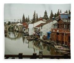 The Asian Venice  Fleece Blanket