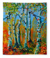 The Aspens Fleece Blanket