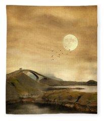 The Atlantic Road Fleece Blanket
