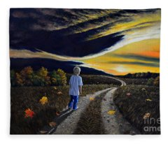 The Autumn Breeze Fleece Blanket