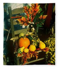 The Autumn Chair Fleece Blanket