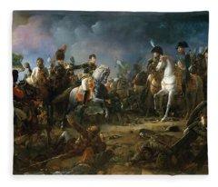 The Battle Of Austerlitz Fleece Blanket