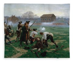 The Battle Of Lexington, 19th April 1775 Fleece Blanket