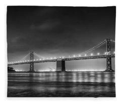 The Bay Bridge Monochrome Fleece Blanket