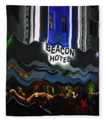 The Beacon Hotel Fleece Blanket