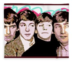 The Beatles Love Fleece Blanket