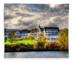 The Beautiful Sagamore Hotel On Lake George Fleece Blanket