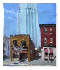 The Beauty N' The Background In London Canada Fleece Blanket
