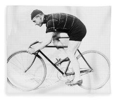 The Bicyclist - 1914 Fleece Blanket