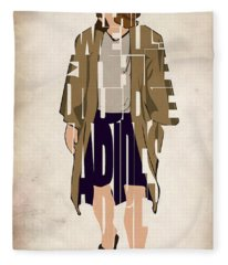 The Big Lebowski Inspired The Dude Typography Artwork Fleece Blanket