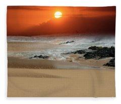 The Birth Of The Island Fleece Blanket