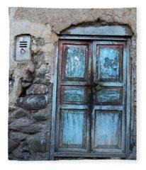 The Blue Door 1 Fleece Blanket