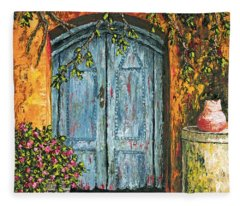 The Blue Door Fleece Blanket