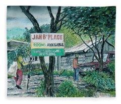 The Blue Mountains Of Jamaica Fleece Blanket