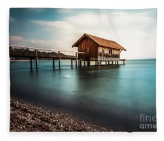 The Boats House II Fleece Blanket