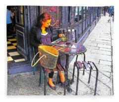 The Brasserie In Paris Fleece Blanket