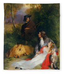 The Bride Of Lammermoor Fleece Blanket