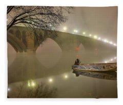 The Bridge To Nowhere Fleece Blanket
