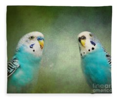 The Budgie Collection - Budgie Pair Fleece Blanket