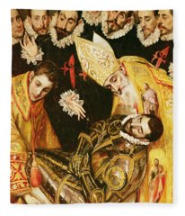 The Burial Of Count Orgaz Fleece Blanket