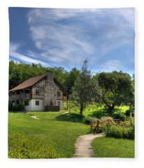 The Cabin Fleece Blanket