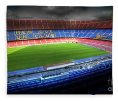 The Camp Nou Stadium In Barcelona Fleece Blanket