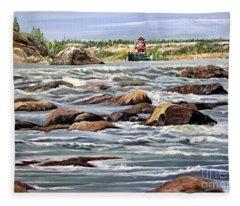 The Canoeist Fleece Blanket