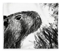 The Capybara  Fleece Blanket