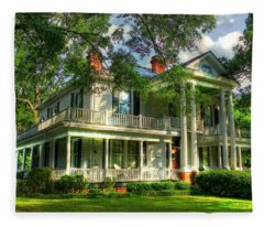 A Southern Bell The Carlton Home Art Southern Antebellum Art Fleece Blanket