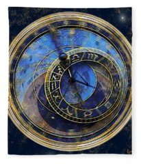 The Carousel Of Time Fleece Blanket