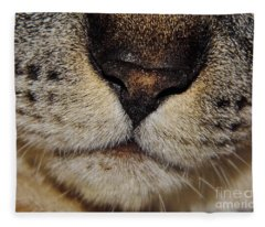 The - Cat - Nose Fleece Blanket
