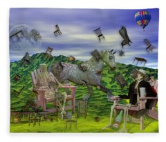 The Chairs Of Oz Fleece Blanket