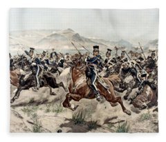 The Charge Of The Light Brigade, 1895 Fleece Blanket