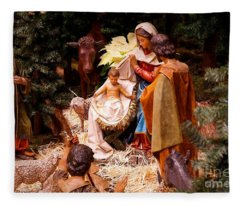 The Christmas Creche At Holy Name Cathedral - Chicago Fleece Blanket