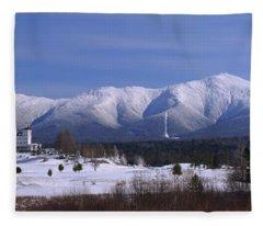 The Classic Mount Washington Hotel Shot Fleece Blanket
