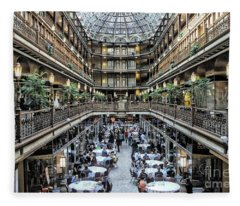 The Cleveland Arcade Fleece Blanket