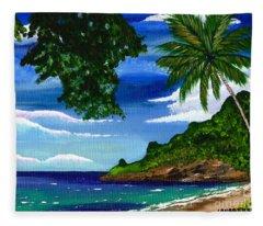 The Coconut Tree Fleece Blanket