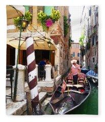 The Colors Of Venice Fleece Blanket