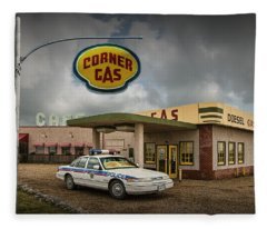 The Corner Gas Station From The Canadian Tv Sitcom Fleece Blanket