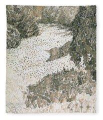 The Corner Of The Park Fleece Blanket