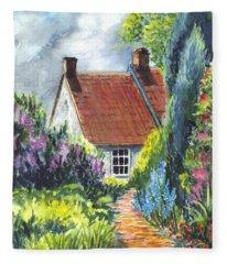 The Cottage Garden Path Fleece Blanket