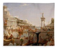 The Course Of Empire Consummation  Fleece Blanket