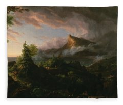 The Course Of Empire The Savage State  Fleece Blanket