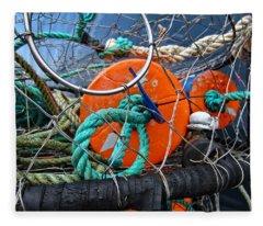 Crab Ring Fleece Blanket