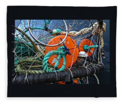 Crab Ring Fleece Blanket