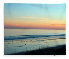 The Day Ends Fleece Blanket