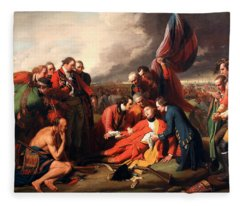 The Death Of General Wolfe Fleece Blanket