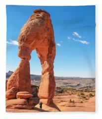 The Delicate Arch Fleece Blanket