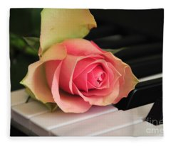 The Delicate Rose Fleece Blanket