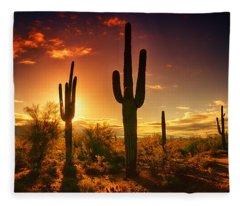 The Desert Awakens  Fleece Blanket